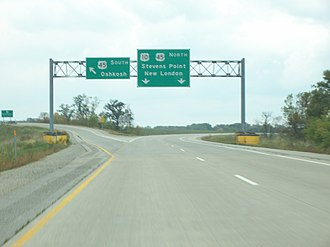 U.S. Route 45 - The highway near Oshkosh, Wisconsin