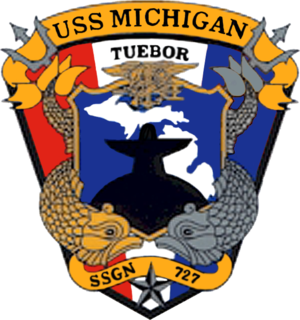 USS Michigan (SSGN-727) - Image: USS Michigan SSGN 727 Crest