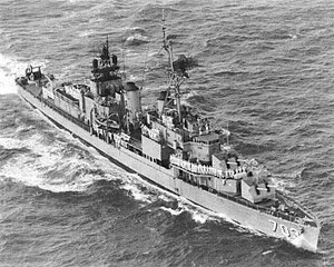 USS Wallace L. Lind (DD-703) underway in the 1960s (KN-22465).jpg