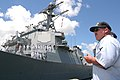US Navy 040902-N-3228G-002 Boatswain's Mate 1st Class Michael Robinson, oversees the mooring of the Arleigh Burke-class guided missile destroyer.jpg