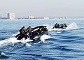 US Navy 051207-N-2101W-001 Divers assigned to the Navy's Special Clearance Team One (NSCT-1), deploy boats out to an underwater training minefield during a joint training with French Navy divers.jpg