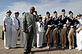 US Navy 060525-N-9640H-004 Television personality and weatherman Al Roker interviews the famous Radio City Rockettes and Sailors assigned to several ships participating in 2006 Fleet Week New York festivities.jpg