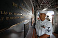 US Navy 070507-N-4965F-001 A Sailor stands petty officer of the watch (POOW) on the quarterdeck of Ticonderoga-class guided-missile cruiser USS Port Royal (CG 73), homeported at Naval Station Pearl Harbor.jpg
