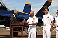 US Navy 070919-N-2908O-001 Shelby County Mayor A.C. Wharton Jr. shakes hands with Rear Adm. Joseph Kilkenny, commander of Navy Recruiting Command.jpg