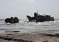 US Navy 080923-N-0193M-272 Beach Master Unit (BMU) 2 departs the beach in Galveston aboard a landing craft utility.jpg