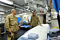 US Navy 100108-N-8273J-369 Chief of Naval Operations (CNO) Adm. Gary Roughead visits the operating room of the Role III Hospital at Kandahar Airfield, Afghanistan.jpg