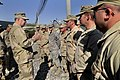 US Navy 100109-N-8273J-255 Chief of Naval Operations (CNO) Adm. Gary Roughead speaks with Sailors from Task Force Paladin at Kandahar Airfield, Afghanistan.jpg