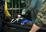 US Navy 100120-N-1831S-071 Medical staff aboard USS Bataan (LHD 5) treat an injured patient during a mass causality environment.jpg