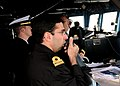 US Navy 100507-N-9301W-242 A Uruguayan naval officer assists with the navigation of USS Klakring (FFG 42).jpg