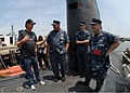 US Navy 100722-N-7705S-096 Actor Tim Allen talks with Sailors aboard the Los Angeles-class attack submarine USS Scranton (SSN 756) during a tour of the ship.jpg