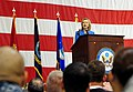 US Navy 101029-F-9899A-233 U.S. Secretary of State Hillary Rodham Clinton speaks to more than 1,000 service members at Andersen Air Force Base.jpg