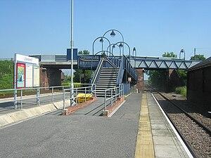 Ulleskelf railway station - Northbound view