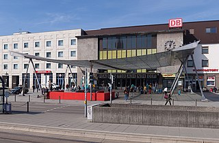 Ulm Hauptbahnhof railway station in Ulm, Germany