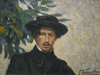 Umberto Boccioni - Self portrait, 1905, oil on canvas