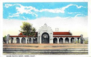Yermo, California - The former Union Pacific depot in the 1920s