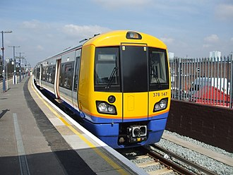 Arriva Rail London - 378147 at New Cross in April 2010