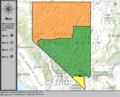 United States Congressional Districts in Nevada, since 2013.tif