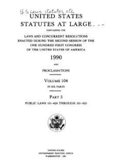 United States Statutes at Large Volume 104 Part 5.djvu