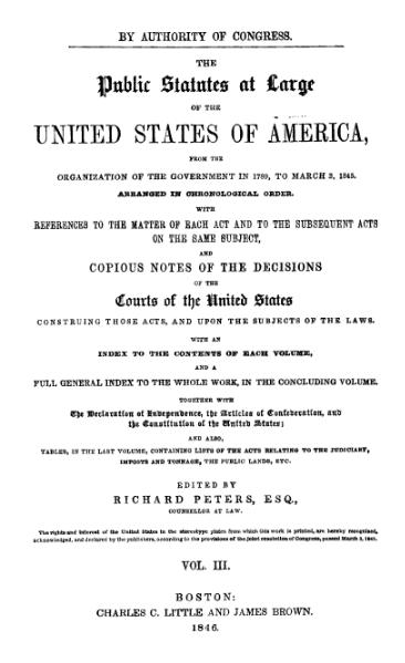 File:United States Statutes at Large Volume 3.djvu