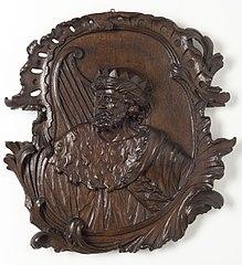 Medaillon van eikenhout, Koning David