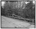 VIEW OF TRUSS ON THE SOUTHWEST SIDE OF THE BRIDGE. - Road S-1-133 Bridge, Spanning Long Cane Creek, Abbeville, Abbeville County, SC HAER SC-26-4.tif
