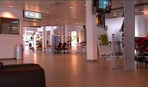 Vaasa Airport - Interior of Vaasa Airport Terminal