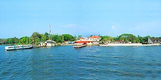 Vaikom - Boat jetty and KTDC restaurant along Vembanadu Lake