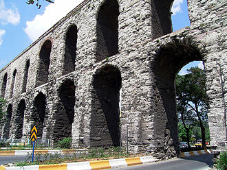 Valens - Aqueduct of Valens in Istanbul (old Constantinople), capital of the Eastern Roman Empire.