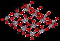 Strukturformel von Vanadiumpentoxid