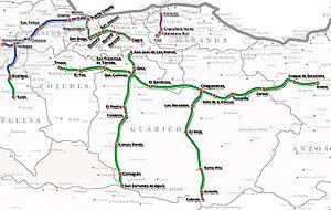 State Railways Institution - Image: Venezuela railway map