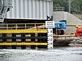 Vertical clearance scale at Niantic River Bridge, June 2013.JPG