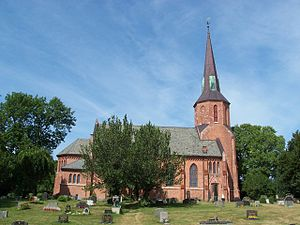 Holm Hansen Munthe - Vestby church, cooperation with Henrik Nissen