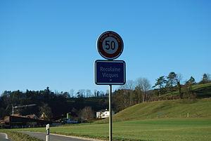 Vicques, Switzerland - Border of the municipality