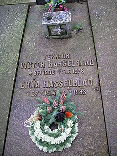 Victor Hasselblad Swedish photographer and inventor