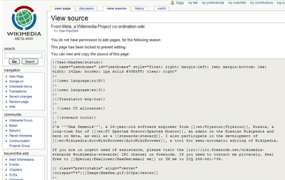 "Picture of ""view source"" page, with an unchangeable text box."
