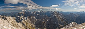 Julian Alps - Image: View from Mangart MC