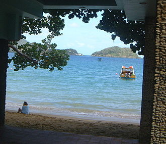 Goat Island (Trinidad and Tobago) - View of Goat Island (center) and Little Tobago (right) from Blue Waters Inn, Speyside, Tobago