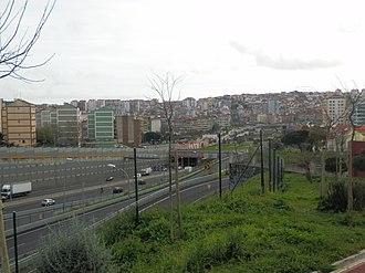 Amadora - Image: View of Portas de Benfica, CRIL and Benfica
