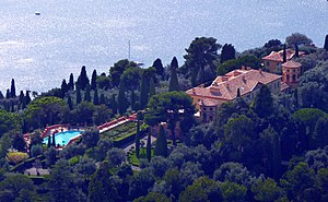 Villa Leopolda - An aerial view of the Leopolda estate in 2010.