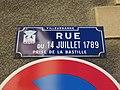Villeurbanne - Rue du 14-Juillet-1789 - Plaque (mars 2019).jpg