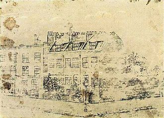 Vincent van Gogh chronology - Van Gogh's drawing of 87 Hackford Road