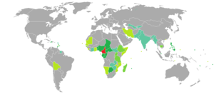 Visa requirements for Cameroonian citizens - Image: Visa requirements for Cameroonian citizens