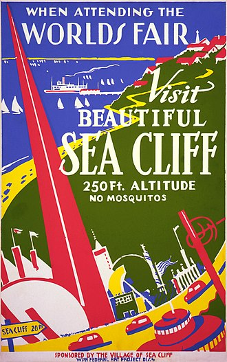 Sea Cliff, New York - WPA Poster advertising Sea Cliff (c. 1939)