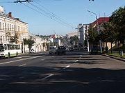 Городской общественный транспорт представлен 9-ю. маршрутами.  Также действуют. осуществляющие движение по 41...
