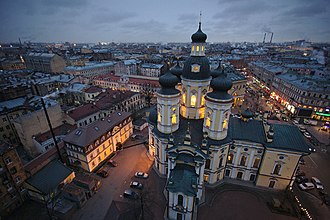 Vladimirskaya Church - Image: Vladimirskaya сhurch (view from belfry)