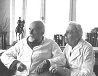 Cécile Vogt-Mugnier - Oskar and Cécile Vogt later in life.