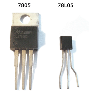 78xx - 7805 in TO-220 and TO-92 packages
