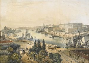 1839 in Sweden - Vue de Stockholm