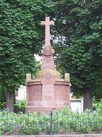 Battle of Tauberbischofsheim - Image: Württembergisches Kriegerdenkmal in Tauberbischofsheim 2