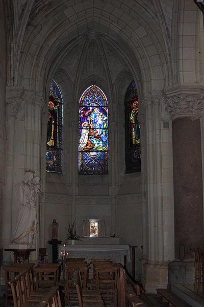 Absidiole nord, église Saint-Symphorien, Fr-49-Montjean-sur-Loire.